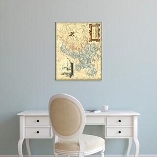 Easy Art Prints Vision Studio's 'Europe Map' Premium Canvas Art