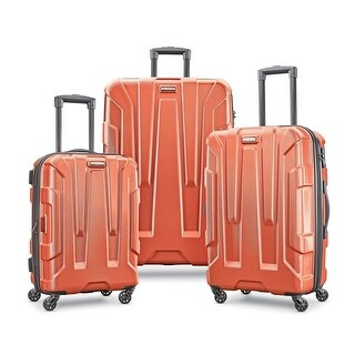 Samsonite Centric 3 Piece Expandable Hardside Spinner Luggage Set, Burnt Orange
