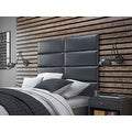 Vant Upholstered Wall Panels (Headboards) Sets of 4 - Deluxe Leather - Graystone - 30 Inch - Full-Queen. - Thumbnail 2