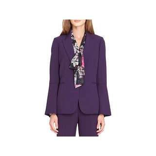 Tahari ASL Womens One-Button Blazer Bell Sleeve Suit Separate