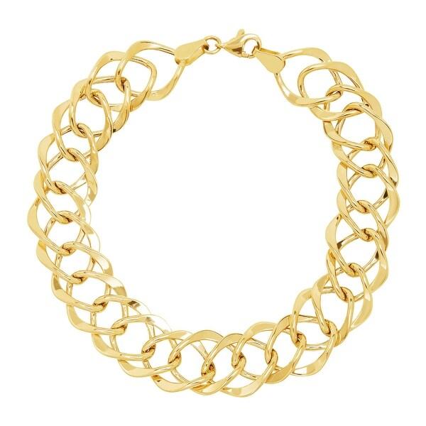Eternity Gold Diamond-Shaped Beveled Link Bracelet in 14K Gold - Yellow