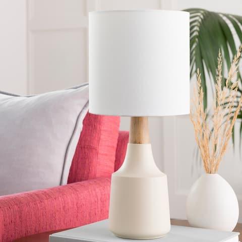 Hadrian Ivory Modern Table Lamp