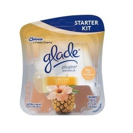 Glade 73099 PlugIns Scented Oil Starter Kit, Hawaiian Breeze