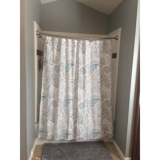 Curtains Ideas blue paisley shower curtain : Garden Paisley Blue Grey Shower Curtain - Free Shipping On Orders ...