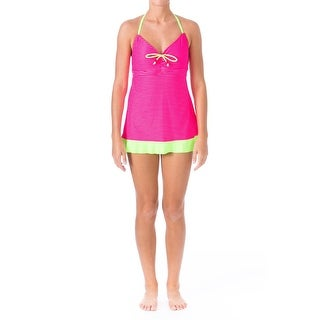 Backflips Womens Striped Halter Swimdress - 8