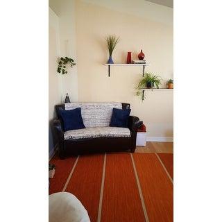 Safavieh Hand-woven Rag Rug White/ Multi Cotton Rug - 4' x 4' Square