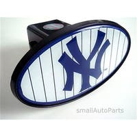 SmallAutoParts Mlb Tow Hitch Cover - New York Yankees Down Strips
