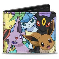 Eevee Evolution Pokmon Faces Close Up Stacked2 Bi Fold Wallet - One Size Fits most