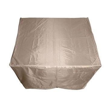 AZ Patio HLI-F-SCVR Square Heavy Duty Waterproof Propane Fire Pit Cover - Tan