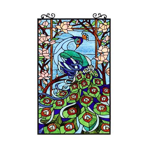 Peacock Design Window Panel/ Suncatcher