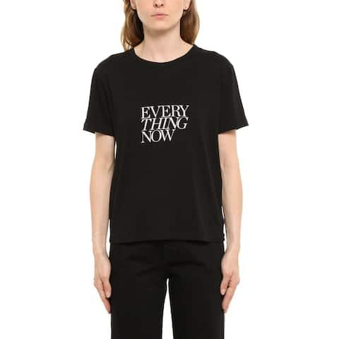SAINT LAURENT Women's Everything Now T-Shirt Black