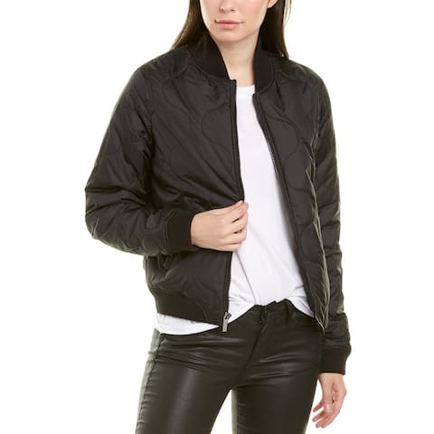 French Connection Swirl Quilted Bomber Jacket