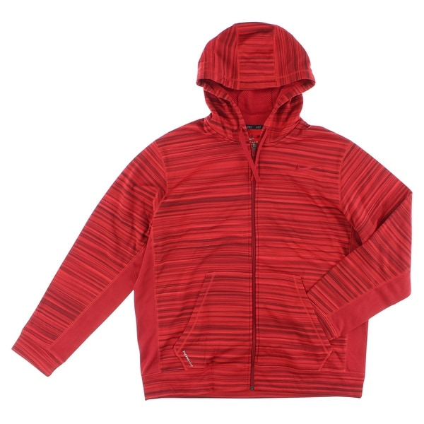 c6b660b42fba Shop Nike Mens Knock Out Blur Full Zip Training Hoodie Red - Free Shipping  Today - Overstock - 22545384