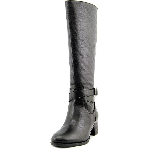 Nine West Vani Wide Calf Women Round Toe Leather Knee High Boot
