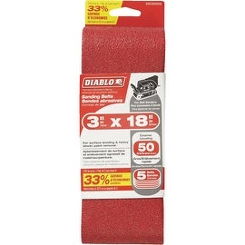 Diablo 5Pk 3X18 50G Sand Belt
