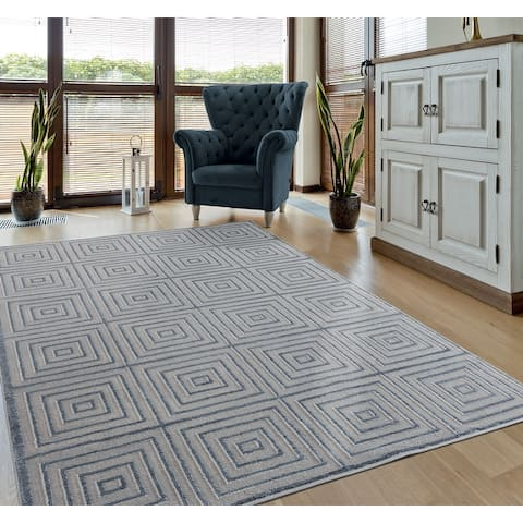 Porch & Den Reuter Hi-low Geometric Area Rug