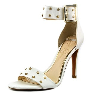 Jessica Simpson Elonna 2 Women Open-Toe Synthetic White Heels