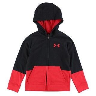 Under Armour Boys Sportstyle Iso Full Zip Hoodie Black - Black/Red