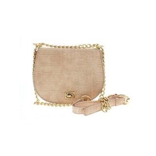 Bebe Womens Michelle Crossbody Handbag Evening Chain - Small