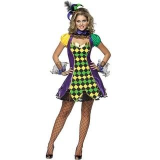 Rasta Imposta Mardi Gras Jester Adult Costume - Solid - s-m