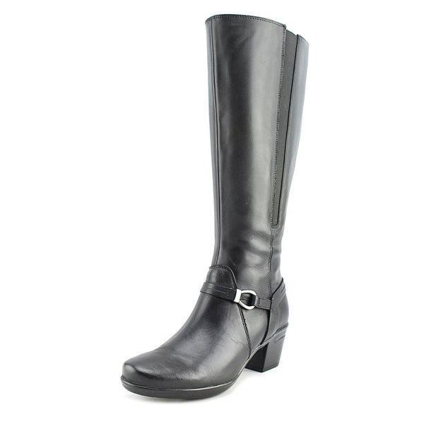 Clarks Narrative Emslie Sinai Wide Calf Women Leather Black Knee High Boot