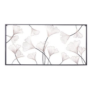 """Link to Large Rectangular Black And Gold Floral Metal Wall Decor 24"""" X 48"""" Similar Items in Recessed Lights"""
