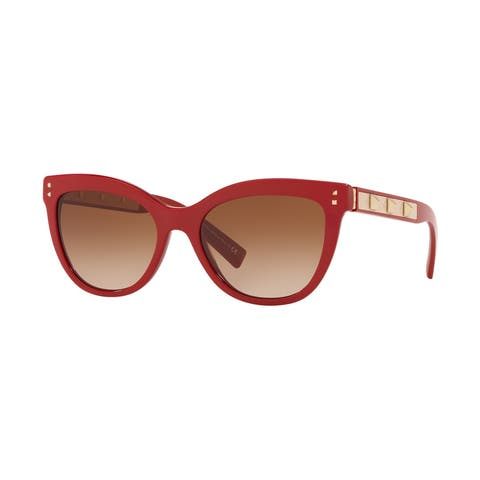 Valentino VA4049 511013 54 Red Woman Cat Eye Sunglasses