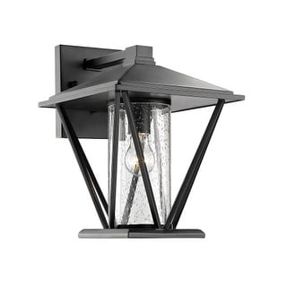 "Millennium Lighting 2523 Single Light 14-1/4"" High Outdoor Wall Sconce with Glass Shade"