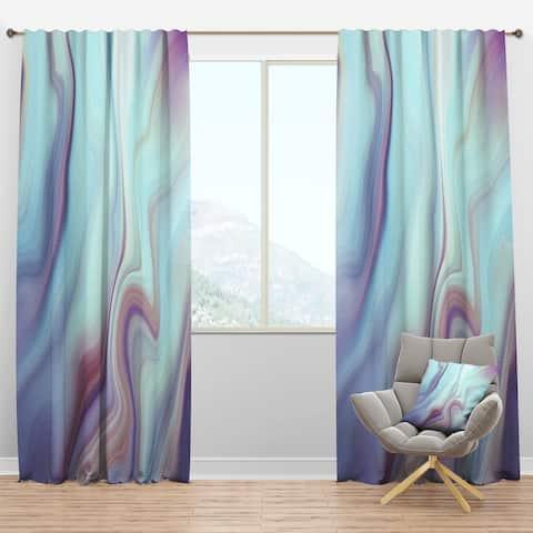 Designart 'Marbled Liquid Agate Colours' Modern Blackout Curtain Panel