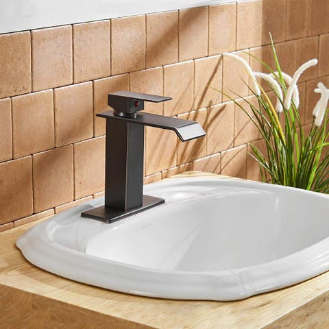 Waterfall Oil Rubbed Bronze Bathroom Faucet