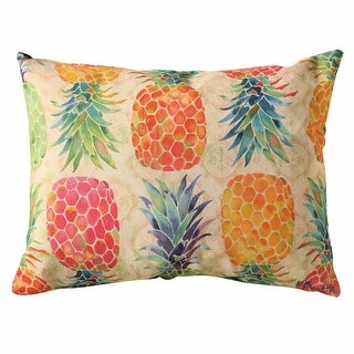 Pineapple Marmalade Outdoor Throw Pillow