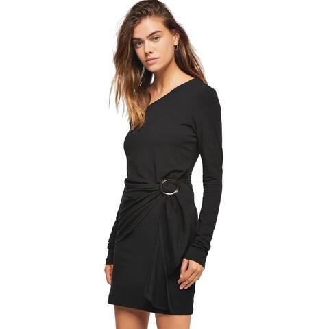 Free People Womens Frankie Mini Dress Medium Black
