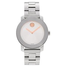 Movado Women's 'Bold' 3600084 Stainless Steel Link Bracelet Watch