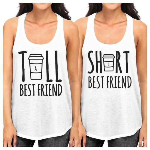 Shop Tall Short Cup Best Friend Gift Shirts Womens White Cute Tank