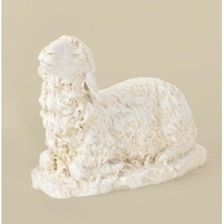 "8"" Joseph's Studio Religious Sitting Sheep Outdoor Christmas Nativity Statue"