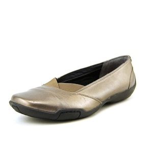 Ros Hommerson Cady Women SS Round Toe Leather Bronze Flats