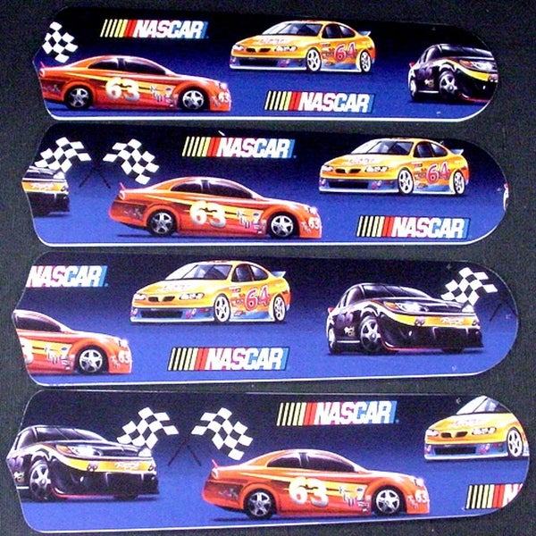 Nascar Themed Custom Designer 42in Ceiling Fan Blades Set - Multi