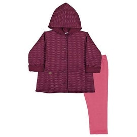 Baby Girl Outfit Hoodie Jacket and Leggings Set Newborns Pulla Bulla 3-12 Months