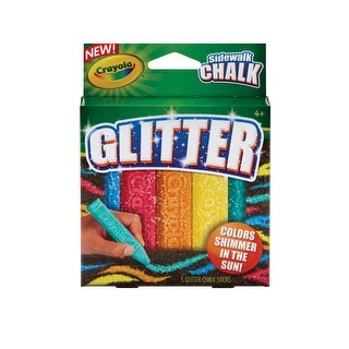 Crayola Glitter Special Effects Chalk Set, Assorted Colors, Set of 5