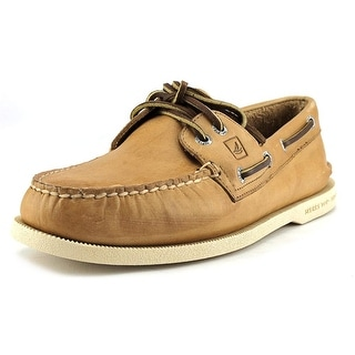 Sperry Top Sider A/O 2-Eye W Moc Toe Leather Boat Shoe