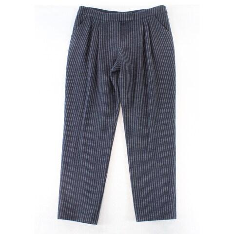 Armani Collezioni Women's 14X33 Striped Dress Pants Wool