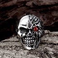 Vienna Jewelry The Terminator's Skull Stainless Steel Ring - Thumbnail 3