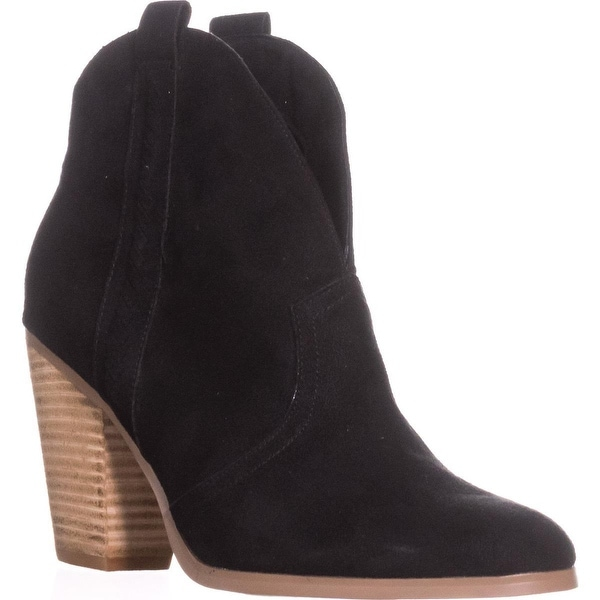 Report Doman Western Pull On Ankle Boots, Black - 9 us