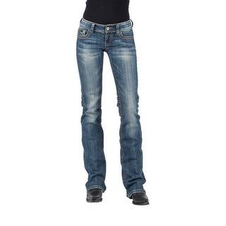 Tin Haul Western Jeans Womens Med Wash Dolly Fit 10-054-0340-1776 BU