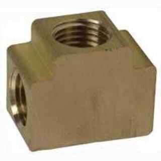 Bostitch TEE-14F Manifolds Tee Fitting, 1/4 FPT, Brass