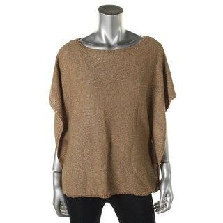 Lauren Ralph Lauren Womens Metallic Linen Blend Tank Top Sweater - L