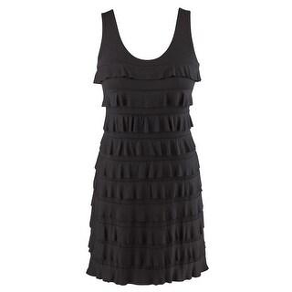 "Women's Tiers Of Joy Black Sundress - Sleeveless - Mid Length Hangs 36"""