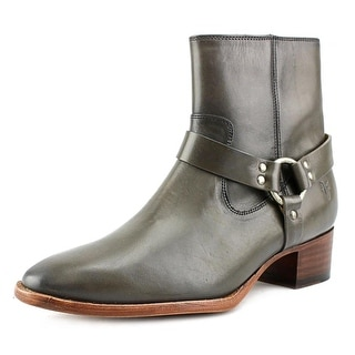 Frye Dara Harness Short Round Toe Leather Bootie