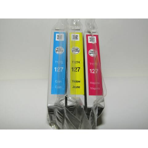 Epson 127 Extra High-Capacity Color Ink Cartridge Multi-Pack in Sealed Bags - Colors