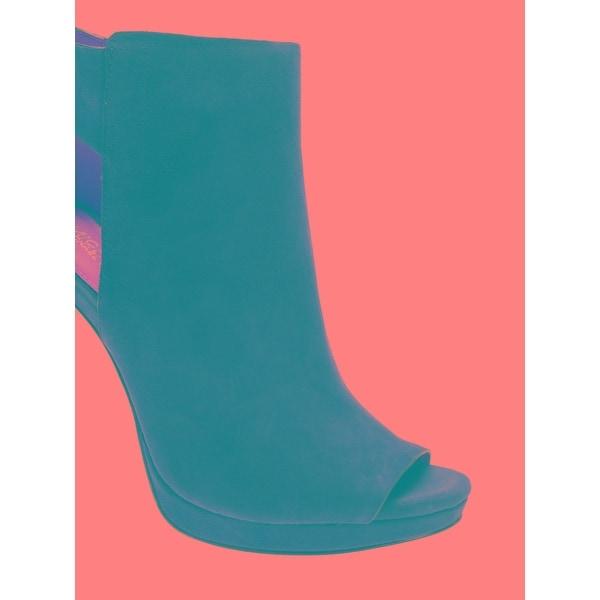 Michael Kors Womens Harper Bootie Leder Peep Toe Ankle